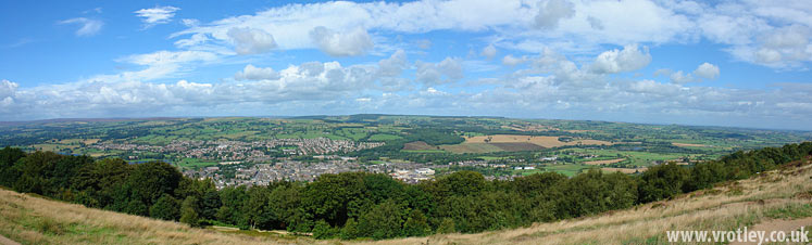 Panoramic view of Otley, Wharfedale UK